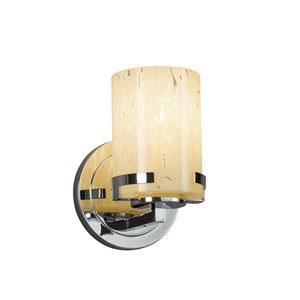 Fusion - Atlas Polished Chrome LED Wall Sconce with Droplet Artisan Glass