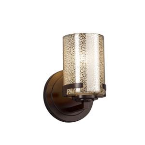 Fusion - Atlas Dark Bronze LED Wall Sconce with Mercury Artisan Glass