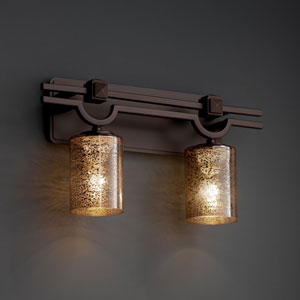 Fusion Argyle Two-Light Dark Bronze Bath Fixture