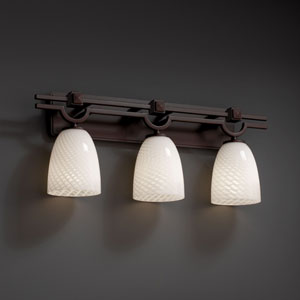 Fusion Argyle Three-Light Dark Bronze Bath Fixture