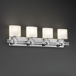 Fusion Argyle Four-Light Brushed Nickel Bath Fixture