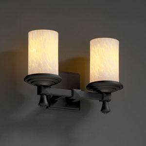 Fusion Deco Two-Light Matte Black Bath Fixture