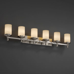 Fusion Deco Six-Light Dark Bronze Bath Fixture