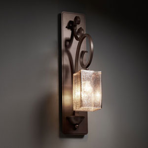 Fusion Victoria Brushed Nickel Tall Wall Sconce