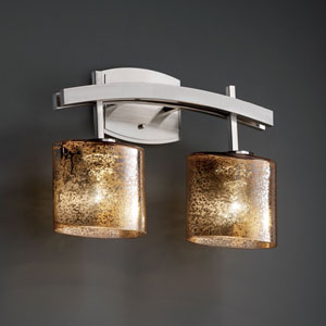 Fusion Archway Two-Light Brushed Nickel Bath Fixture