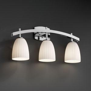 Fusion Archway Three-Light Polished Chrome Bath Fixture