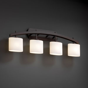 Fusion Archway Four-Light Dark Bronze Bath Fixture