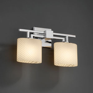 Fusion Aero Two-Light Polished Chrome Bath Fixture