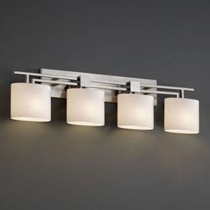 Fusion Aero Four-Light Brushed Nickel Bath Fixture