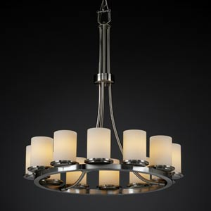 Fusion Dakota Twelve-Light Tall Ring Chandelier