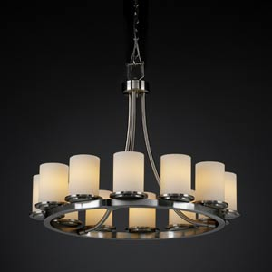 Fusion Dakota Twelve-Light Short Ring Chandelier