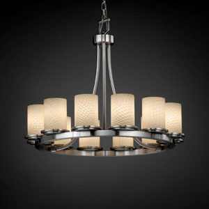 Fusion Dakota 12-Light Brushed Nickel Short Ring Chandelier