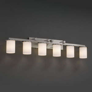 Fusion Dakota Six-Light Brushed Nickel Bath Fixture
