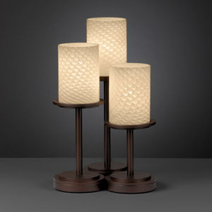 Fusion Dakota Three-Light Dark Bronze Table Lamp