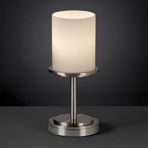 Fusion Dakota Brushed Nickel Short Table Lamp