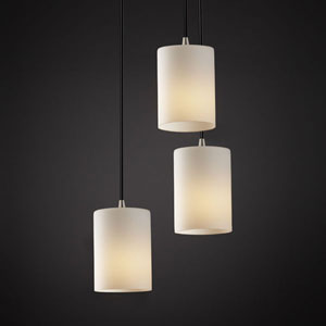 Fusion Modular Three-Light Matte Black Cluster Mini Pendant