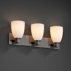 Fusion Modular Three-Light Dark Bronze Bath Fixture