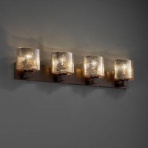 Fusion Modular Four-Light Dark Bronze Bath Fixture