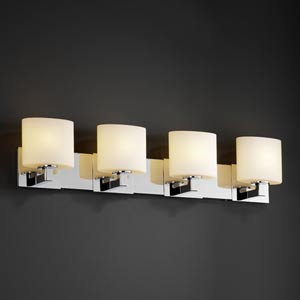 Fusion Modular Four-Light Bath Fixture