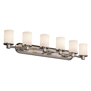 Fusion Polished Chrome Six-Light Bath Bar
