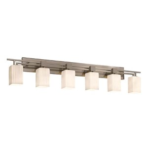 Fusion Brushed Nickel Six-Light Bath Bar