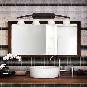 Fusion Dark Bronze Four-Light Bath Bar