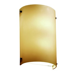 Fusion Matte Black Two-Light Cylindrical Finial Wall Sconce with Almond Glass