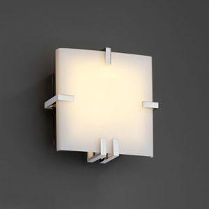 Fusion Clips Square Fluorescent Matte Black 1000 Lumen LED Wall Sconce