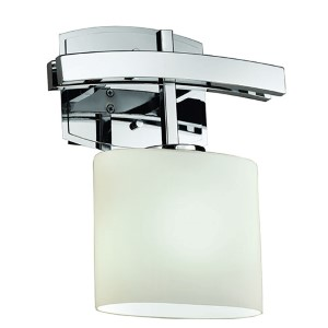 Fusion Archway Polished Chrome One-Light Oval Wall Sconce with Opal Glass