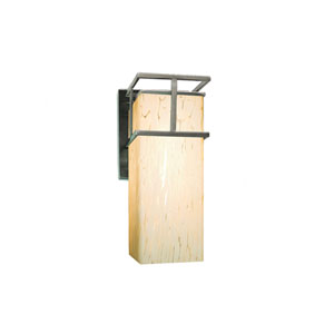 Fusion Brushed Nickel 4.5-Inch Outdoor LED Wall Sconce