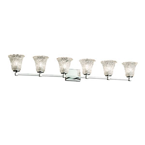 Veneto Luce - Tetra Polished Chrome Six-Light Bath Vanity with Lace Venetian Glass