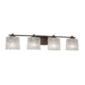 Veneto Luce - Era Dark Bronze Four-Light LED Bath Vanity with Lace Venetian Glass