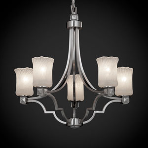 Veneto Luce Argyle Five-Light Brushed Nickel Chandelier