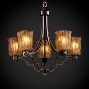 Veneto Luce Argyle Five-Light Dark Bronze Chandelier
