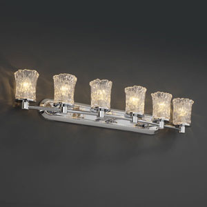 Veneto Luce Rondo Six-Light Polished Chrome Bath Fixture