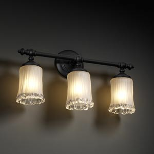Veneto Luce Tradition Three-Light Bath Fixture