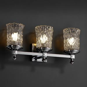 Veneto Luce Deco Three-Light Bath Fixture