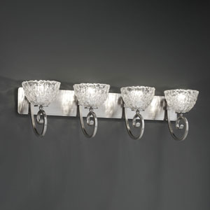 Veneto Luce Victoria Four-Light Antique Brass Bath Fixture