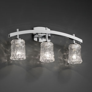 Veneto Luce Archway Three-Light Polished Chrome Bath Fixture