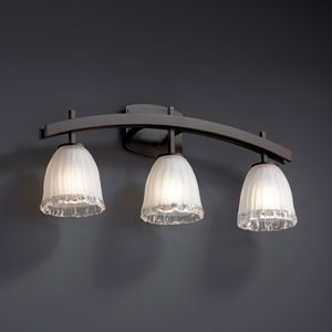 Veneto Luce Archway Three-Light Dark Bronze Bath Fixture