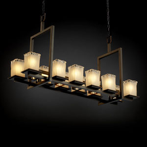 Veneto Luce Montana 12-Up and Five-Downlight Dark Bronze Short Bridge Chandelier