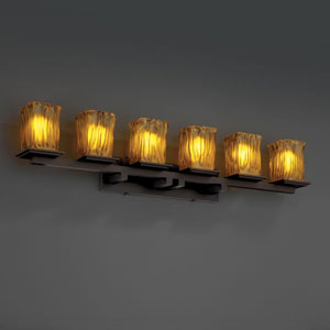 Veneto Luce Montana Six-Light Dark Bronze Bath Fixture