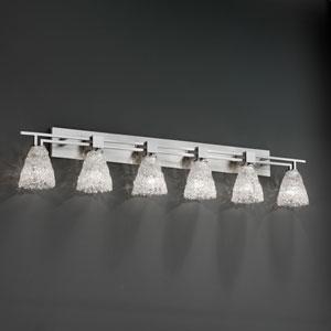 Veneto Luce Aero Six-Light Brushed Nickel Bath Fixture