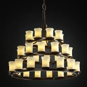 Veneto Luce Dakota Thirty-Six-Light Three-Tier Ring Chandelier