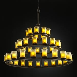 Veneto Luce Dakota Forty-Five-Light Three-Tier Ring Chandelier