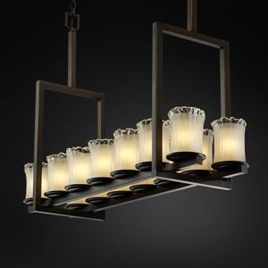 Veneto Luce Dakota Fourteen-Light Tall Bridge Chandelier
