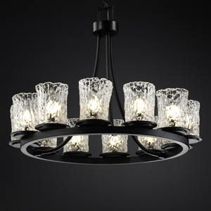 Veneto Luce Dakota Twelve-Light Short Ring Chandelier