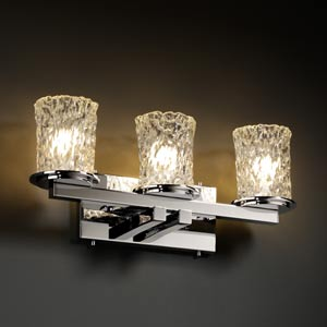 Veneto Luce Dakota Three-Light Straight Bath Fixture