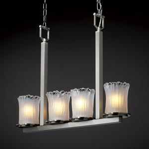 Veneto Luce Dakota Four-Light Bar Chandelier