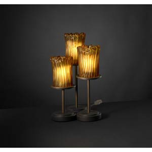 Dakota Dark Bronze and Amber Three-Light Accent Lamp
